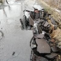 Поводок размывает дороги в Омской области