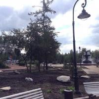 В омском сквере имени Дзержинского ведется видеонаблюдение