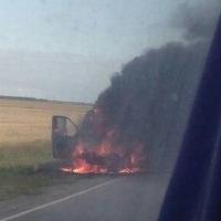 Прокуратура заинтересовалась сгоревшей под Омском маршруткой