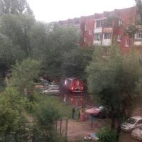 Во время ливня В Омске на 7-ой Амурской произошел пожар в пятиэтажке