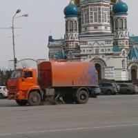 На Соборной площади в Омске был замечен «Вихрь»