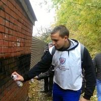Омские добровольцы и полицейские зачистили рекламу наркотиков в рамках проекта «НаркоSTOP»