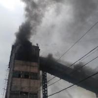 Омские пожарные потушили возгорание на заброшенном элеваторе