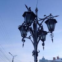 На омских улицах продолжают устанавливать светодиодные светильники