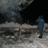 В Омской области на Иртыше вместе с трактором под лед провалился тракторист