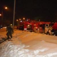 В 4 часа утра в центре Омска произошел пожар