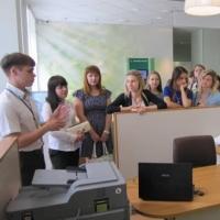 Для студентов экономического факультета ОмГУ  провели лекцию в Сбербанке