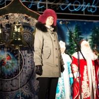 На открытии главной Елки Фадина пообещала помочь раскрыть таланты омичей
