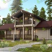 Оформление дома из оцилиндрованного бревна: стили и особенности