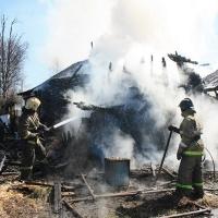 Из горящего дома в Омской области спасли семью