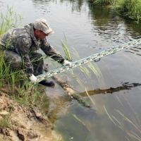 100 000 кубометров воды ежедневно отводит от Мангутского новый канал