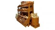 Правильное оформление хлебного отдела магазина.