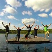 Омские музыканты сняли клип на озере Ленево