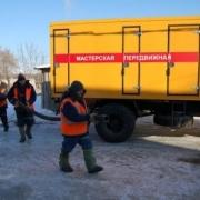 Сотрудники омского водоканала ведут ремонтные работы круглосуточно