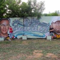 В Омске появилась стена памяти с портретами погибших велосипедистов