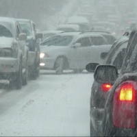 На омских дорогах в час-пик были 9-балльные пробки