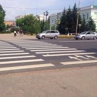 Разметка со стеклошариками появится в Омске на 120 дорожных объектах