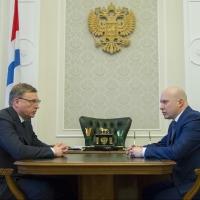 Бурков выслушал впечатление нового председателя Арбитражного суда Омской области о работе