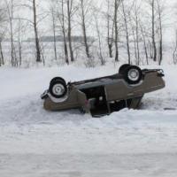 Пьяный водитель в Омской области улетел в кювет