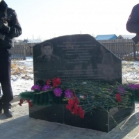 В Омской области установлен обелиск полицейскому