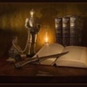 ...А книги золотом искрят