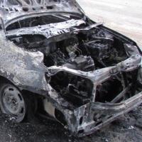 В Омске новенькая «Лада-Гранта» сгорела дотла