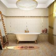 Установка керамического бордюра для ванной