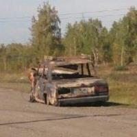 Два авто сгорели в результате ДТП под Омском