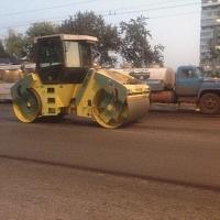 На проспекте Мира омские дорожники приступили к укладке асфальта