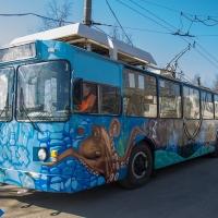 Омские троллейбусы раскрасят граффитисты и юные художники