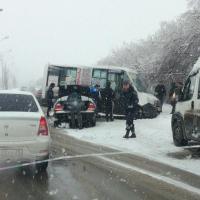В Омске в «ГАЗель» с пассажирами влетела иномарка