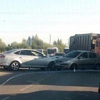 Движение на улице Воровского затруднено из-за ДТП