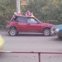 В Омске на Космическом проспекте массовое ДТП из пяти  авто
