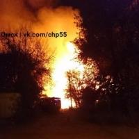Опубликовано видео мощного пожара в Старом Кировске