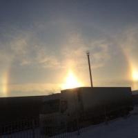 В небе над Омском взошли три солнца