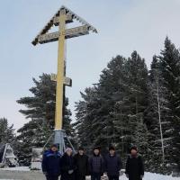 Жертвам сталинских репрессий в Омской области установили гигантский крест