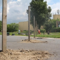 На Омском картодроме началось строительство торгового комплекса