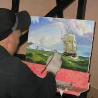 В Омской колонии сделали копию полотна Айвазовского