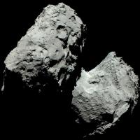 Комета Чурюмова-Герасименко на первой цветной фотографии оказалась серой
