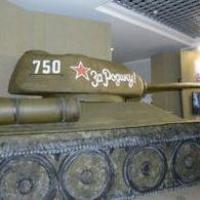 В Омске можно увидеть макет танка в натуральную величину