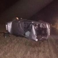 На трассе в Омской области водитель вылетел в кювет