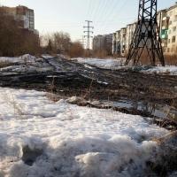 Омичи жалуются на «грязь неимоверную» на дороге у обновленного ДК «Рубин»