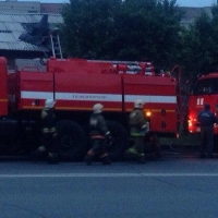 Супермаркет «Победа» в Омске тушили 35 пожарных