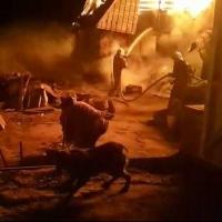 Росгвардейцы спасли семью из горящего дома на дачах в Омске