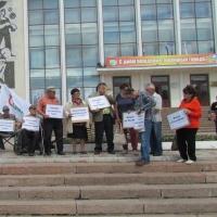 У ДК нефтяников прошёл пикет в защиту «Рассвета»