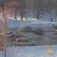 Омич на иномарке врезался в карету скорой помощи (фото)