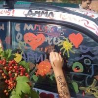 «Стенограффия» разукрасила белую Subaru красками в честь Дня омича
