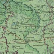 Вот собственно схема Сибирского тракта на территории современной Омской области.  Профиль его кстати частично...