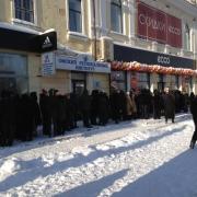 В Омске выстроились очереди за обувью ECCO