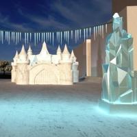 Главную Елку в Омске украсит замок Снежной королевы за 3 млн рублей